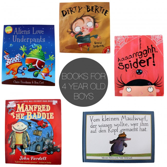 Friday 5 - books for 4 yr old boys