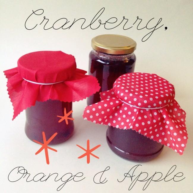 cranberry orange apple jam