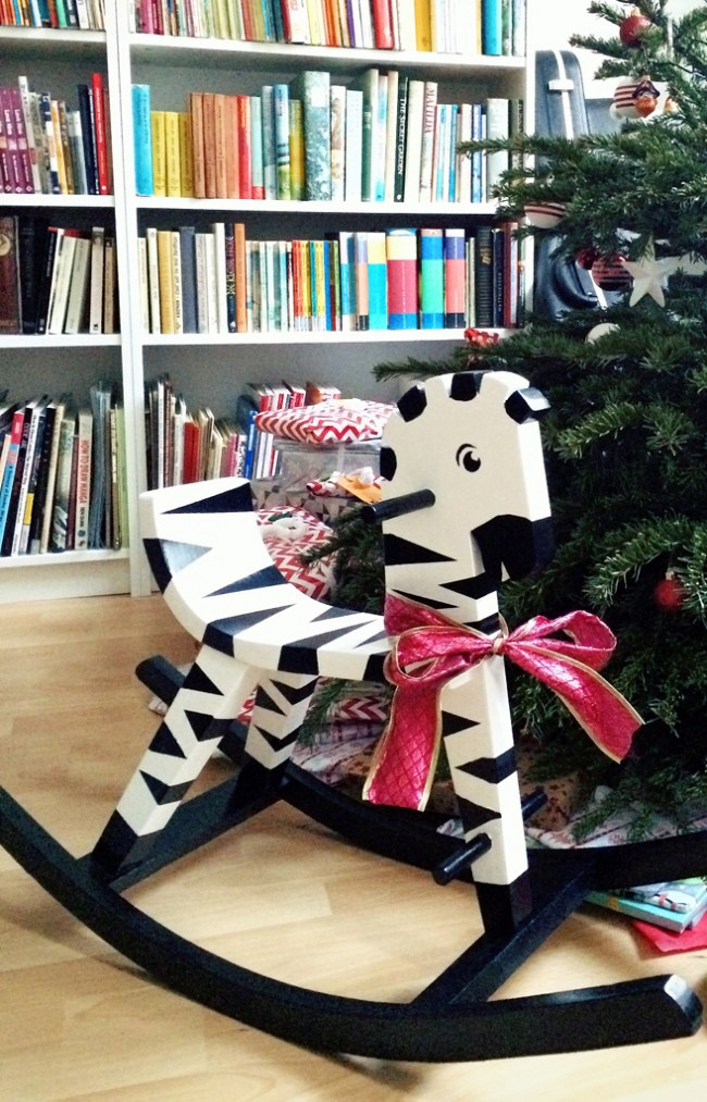 rocking horse zebra makeover 10