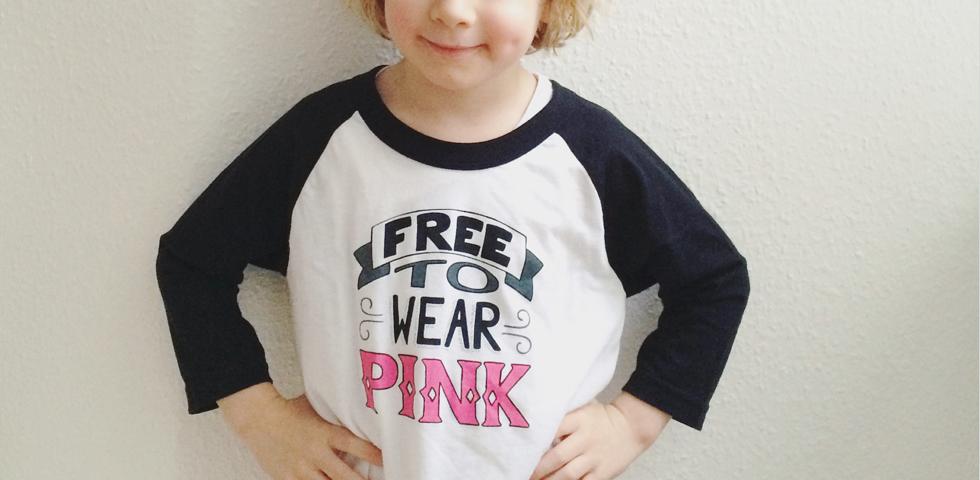 free to wear pink slider