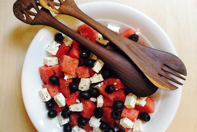 watermelon salad preview