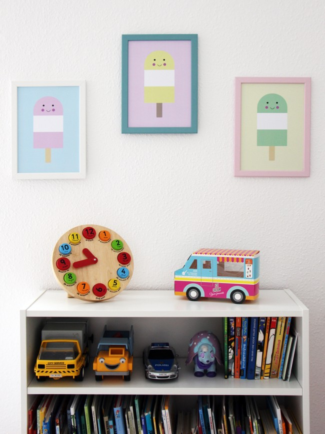 popsicle prints - wall view