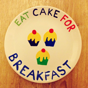 Eat Cake for Breakfast Plate Tutorial