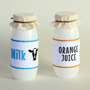 Milk & Juice Bottles Free Printables