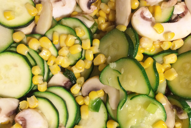 courgette sweetcorn bake preview