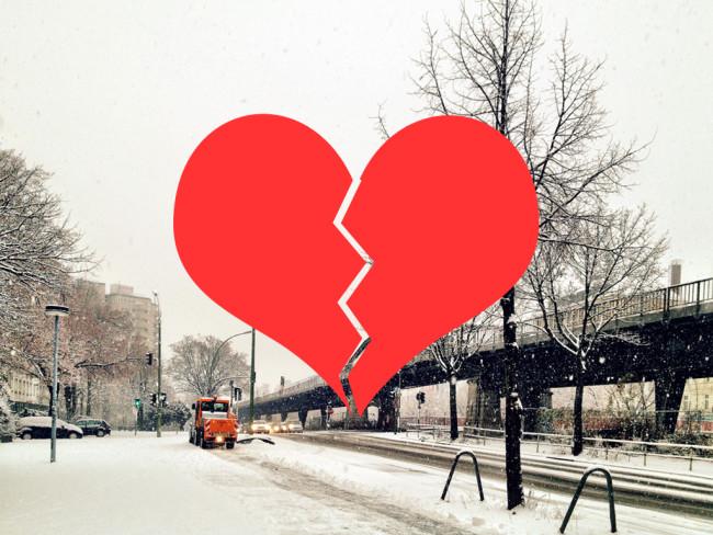 broken heart winter