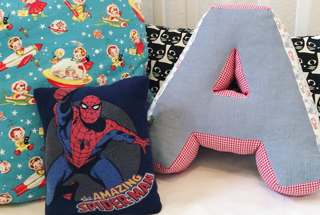 Mini Spiderman Pillow Preview