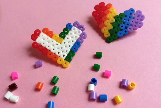 diy fuse bead pride badges - preview