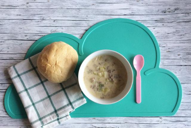 leek cheese soup preview