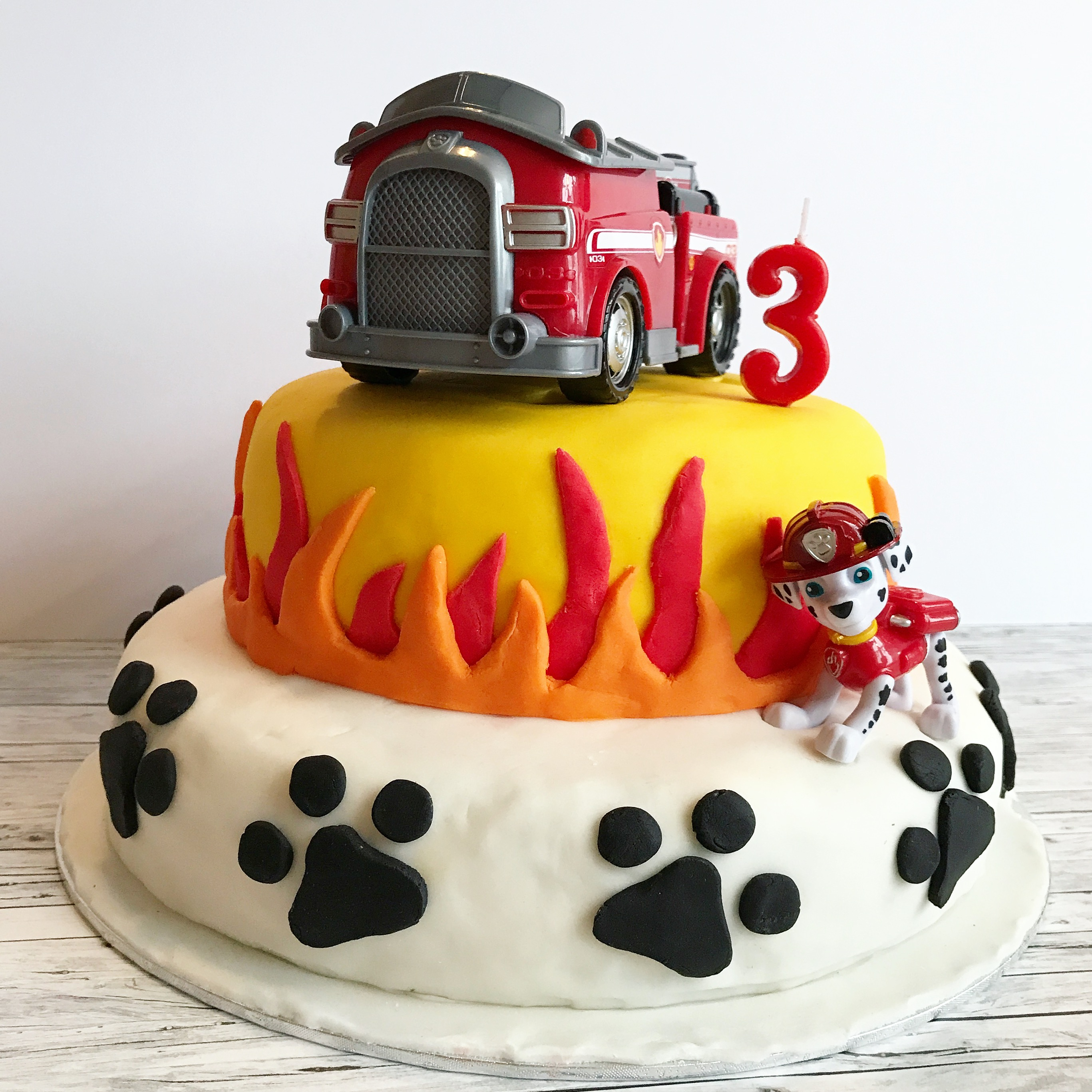 He Specifically Asked For A Paw Patrol Cake With Fire Truck And Marshall Note The Dog As You Can See I Took Easy Way Out Just Stuck