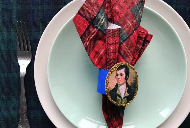 Robert Burns Night Napkin Holder DIY Preview
