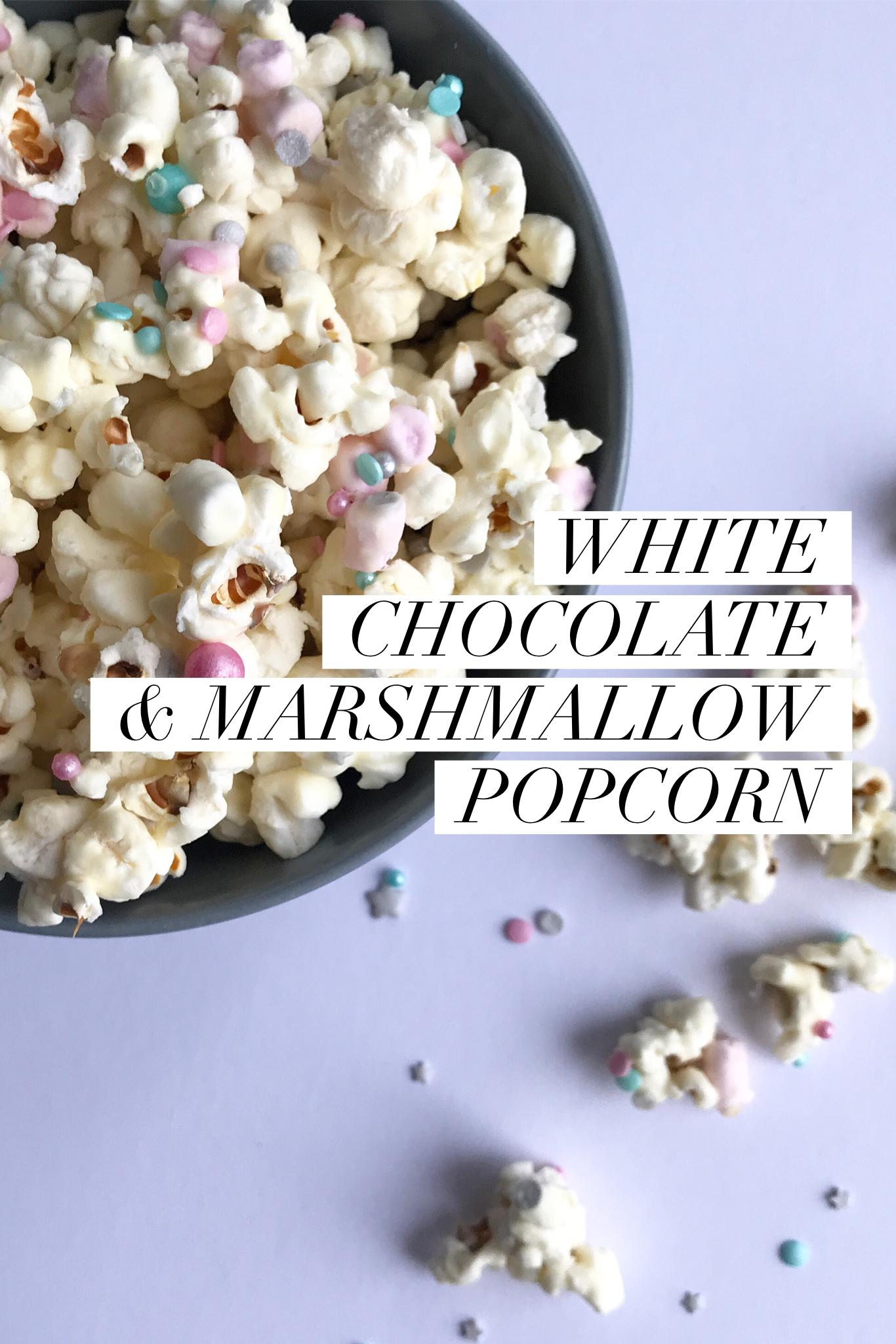 White Chocolate and Marshmallow Popcorn