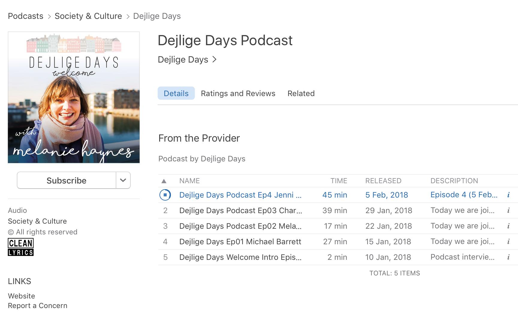 Dejlige Days Podcast