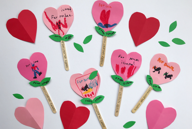 Valentines Popsicle Flowers Preview