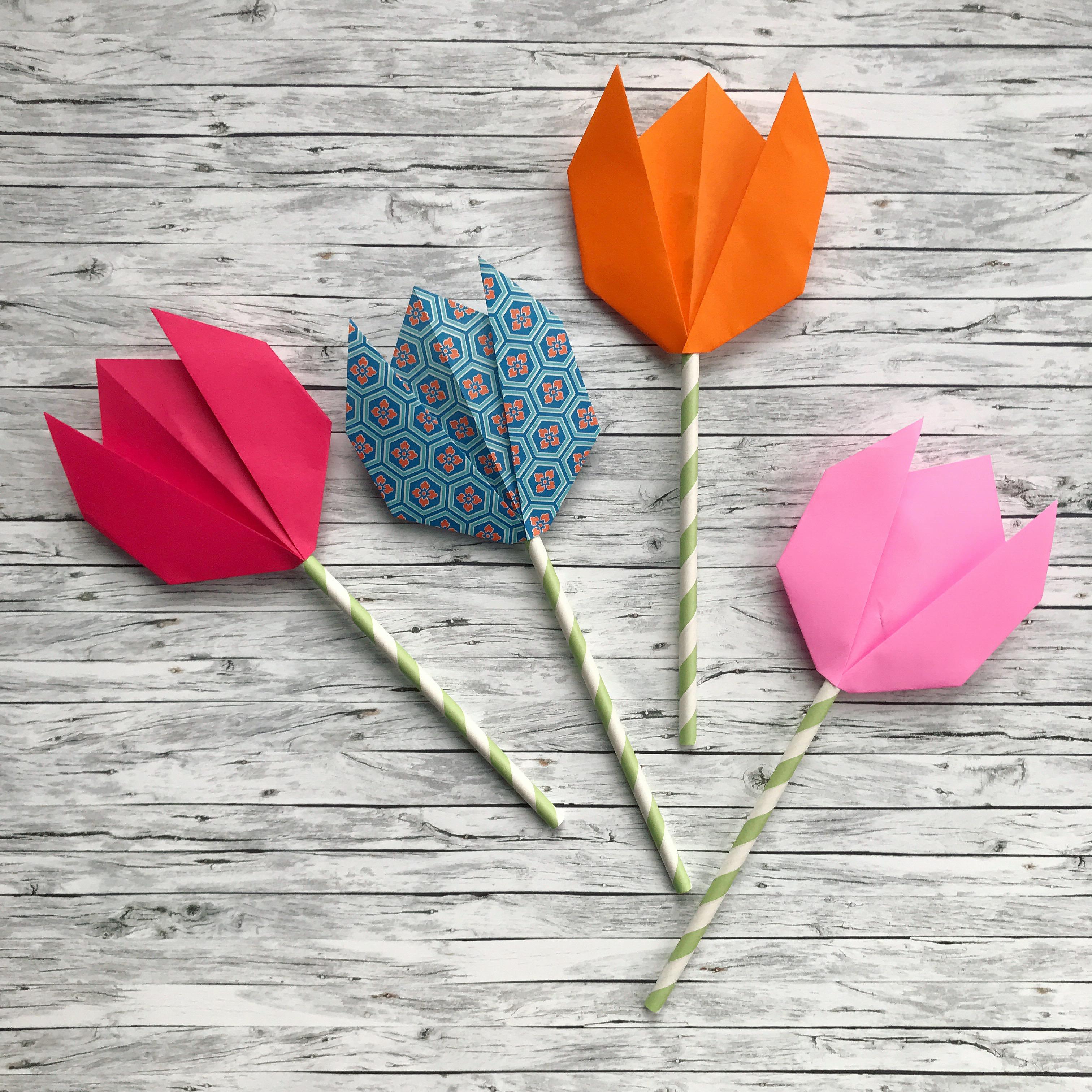Easy Peasy Origami Tulips The Bear Fox