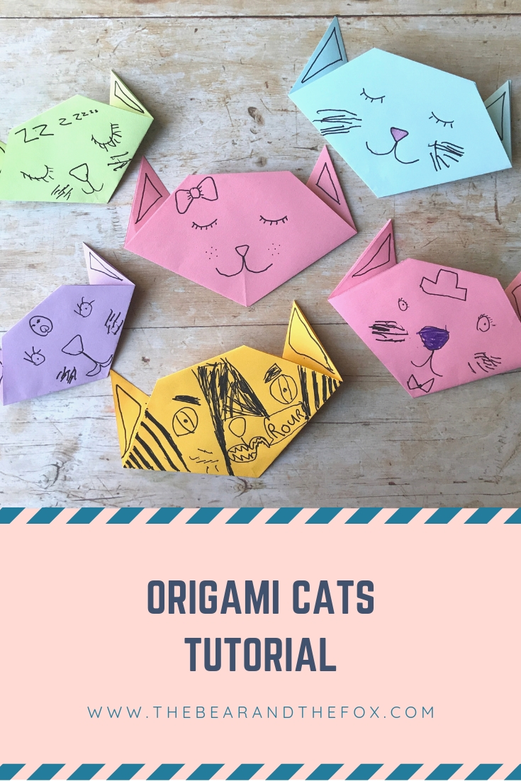 How To Make An Easy Origami Cat Face - Folding Instructions ... | 1102x735