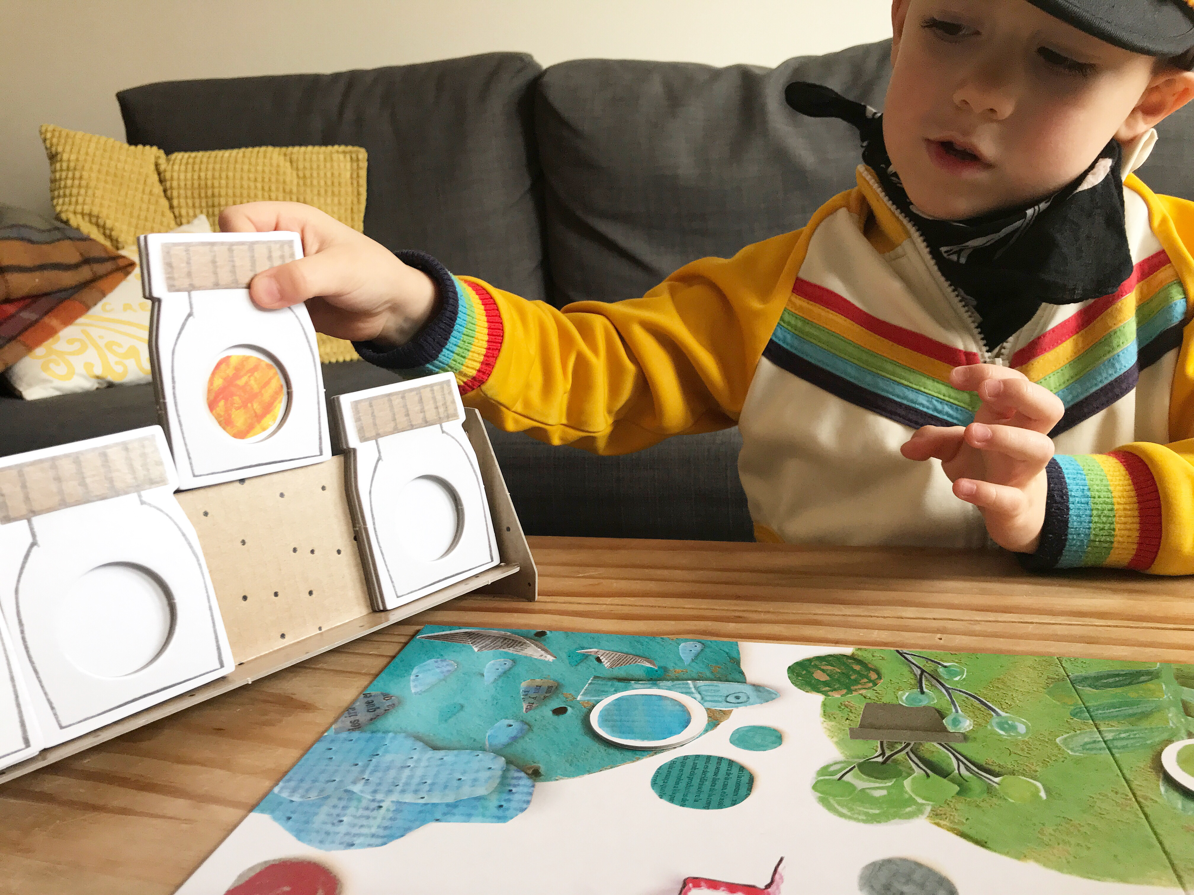 Review The Color Monster Game Ad The Bear The Fox