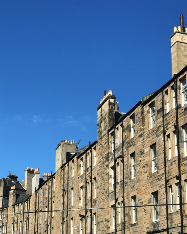 Blue Skies Over Edinburgh