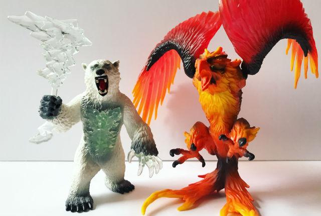 Schleich Eldrador Blizzard Bear and Fire Eagle