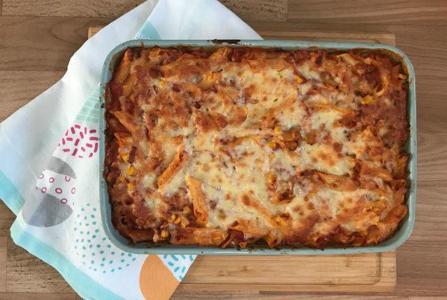 Tuna Tomato Pasta Bake Gluten Free