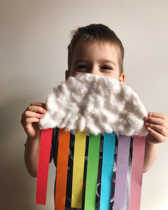 Paper Plate Rainbow Cloud