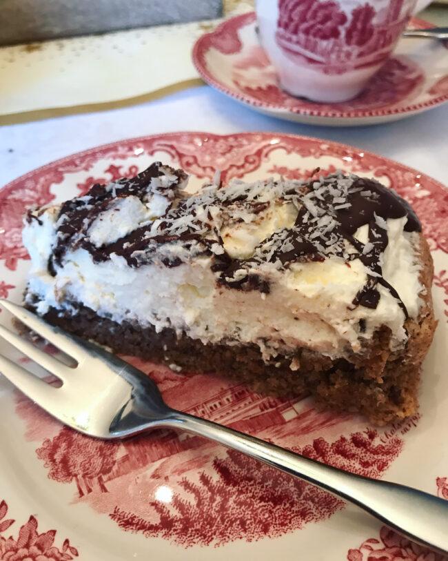 Coconut Chocolate Cream Cake