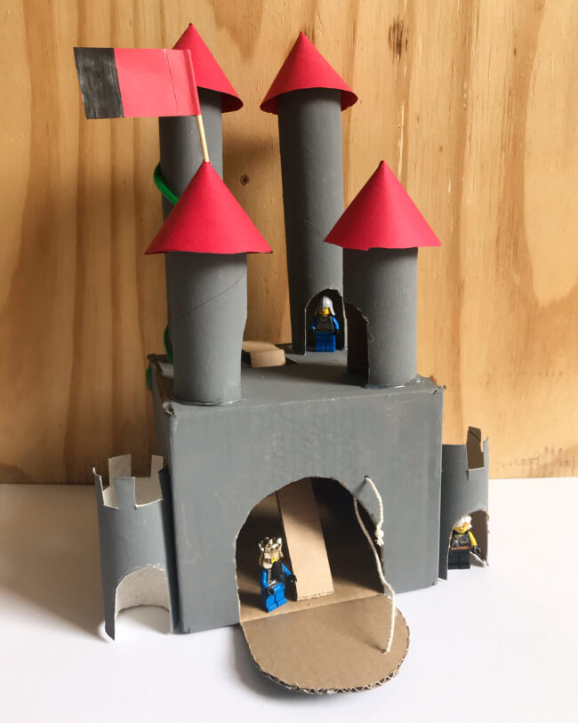 DIY Recycled Toilet Roll Castle