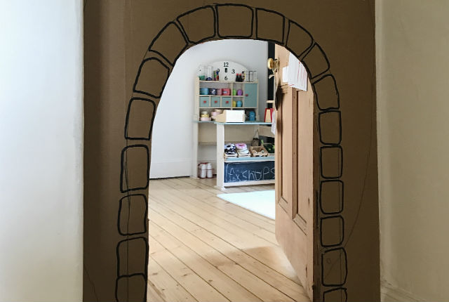 Easy Peasy DIY Cardboard Castle Doorway