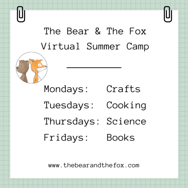 The Bear and the Fox Virtual Summer Camp