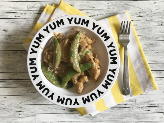 Easy Chicken Peanut Curry