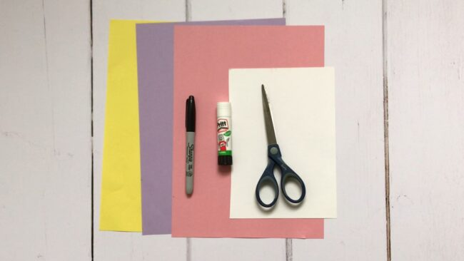 Origami Monster Bookmarks Materials