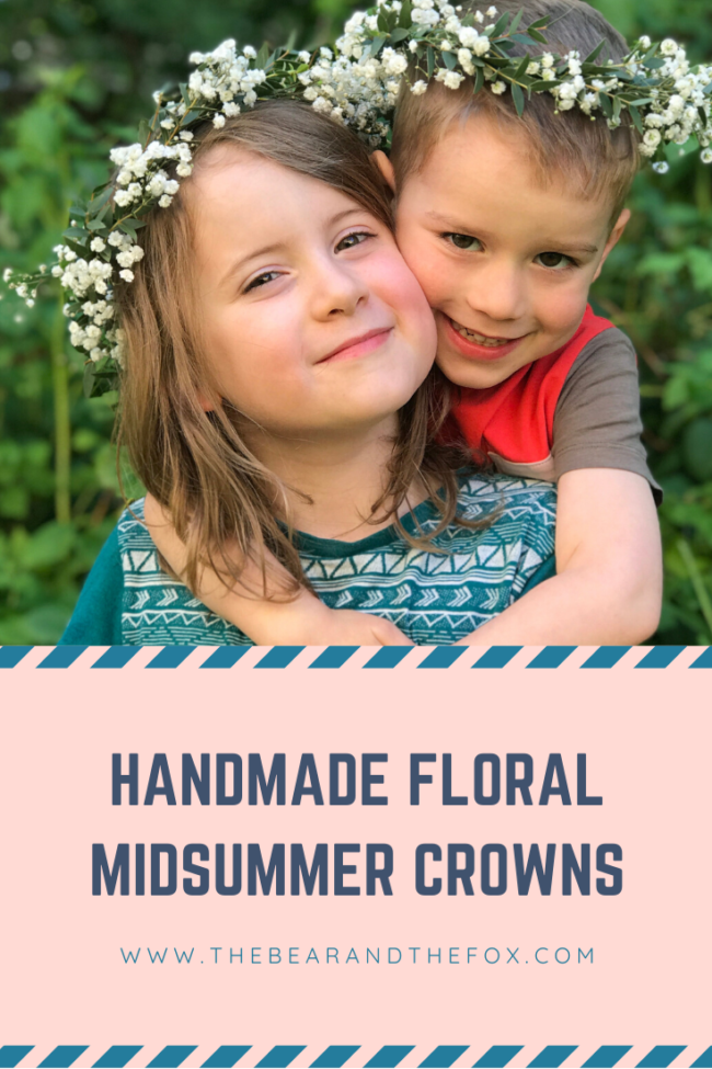 DIY Floral Midsummer Crown Pinterest