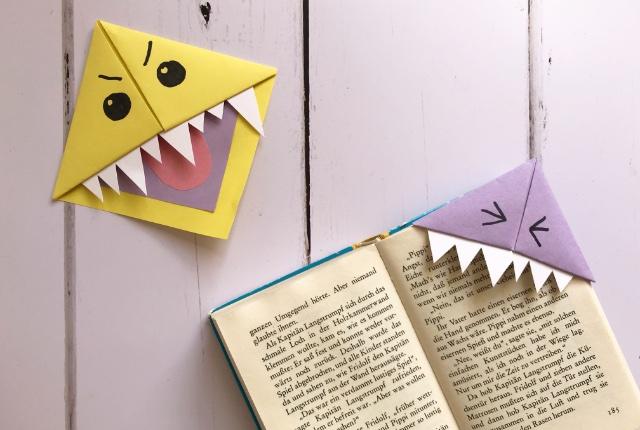 Origami Monster Bookmarks