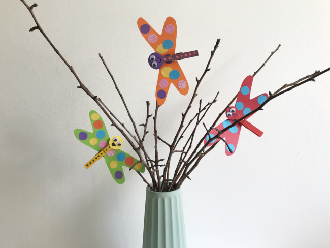 Clothes Peg Dragonfly Craft