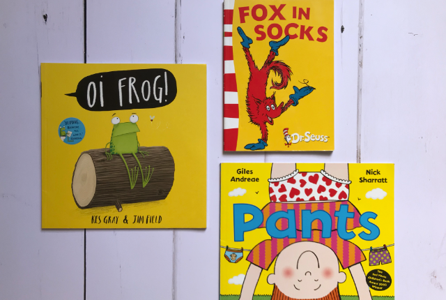 Kids Books Bingo - favourite rhyming books