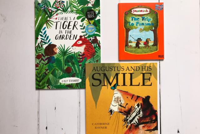 Kids Books Bingo - a book with a tiger in it