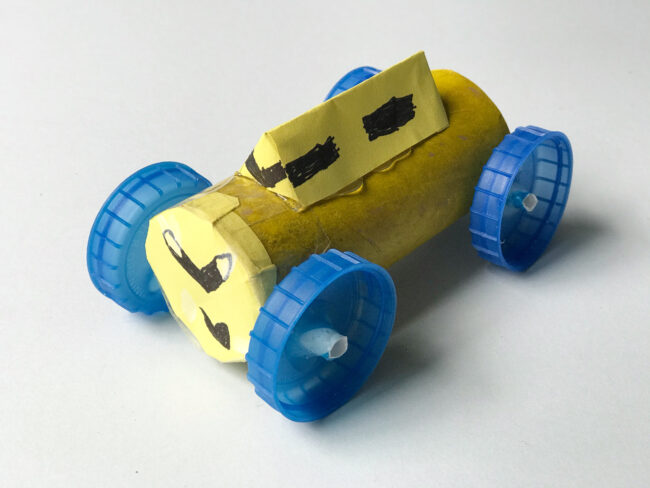 Recycled Toilet Roll Car