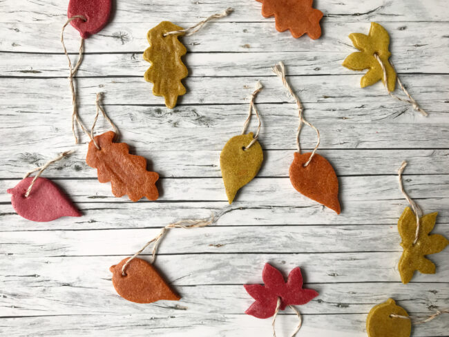 Salt Dough Autumn Leaves