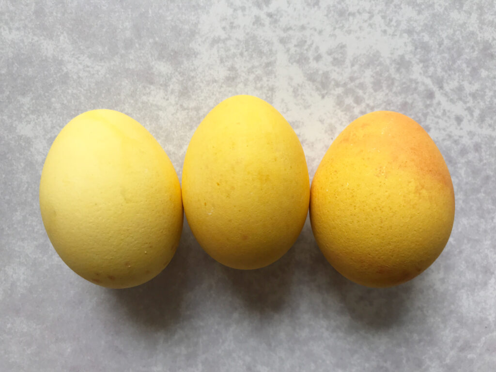 Natural Easter Egg Dyes yellow