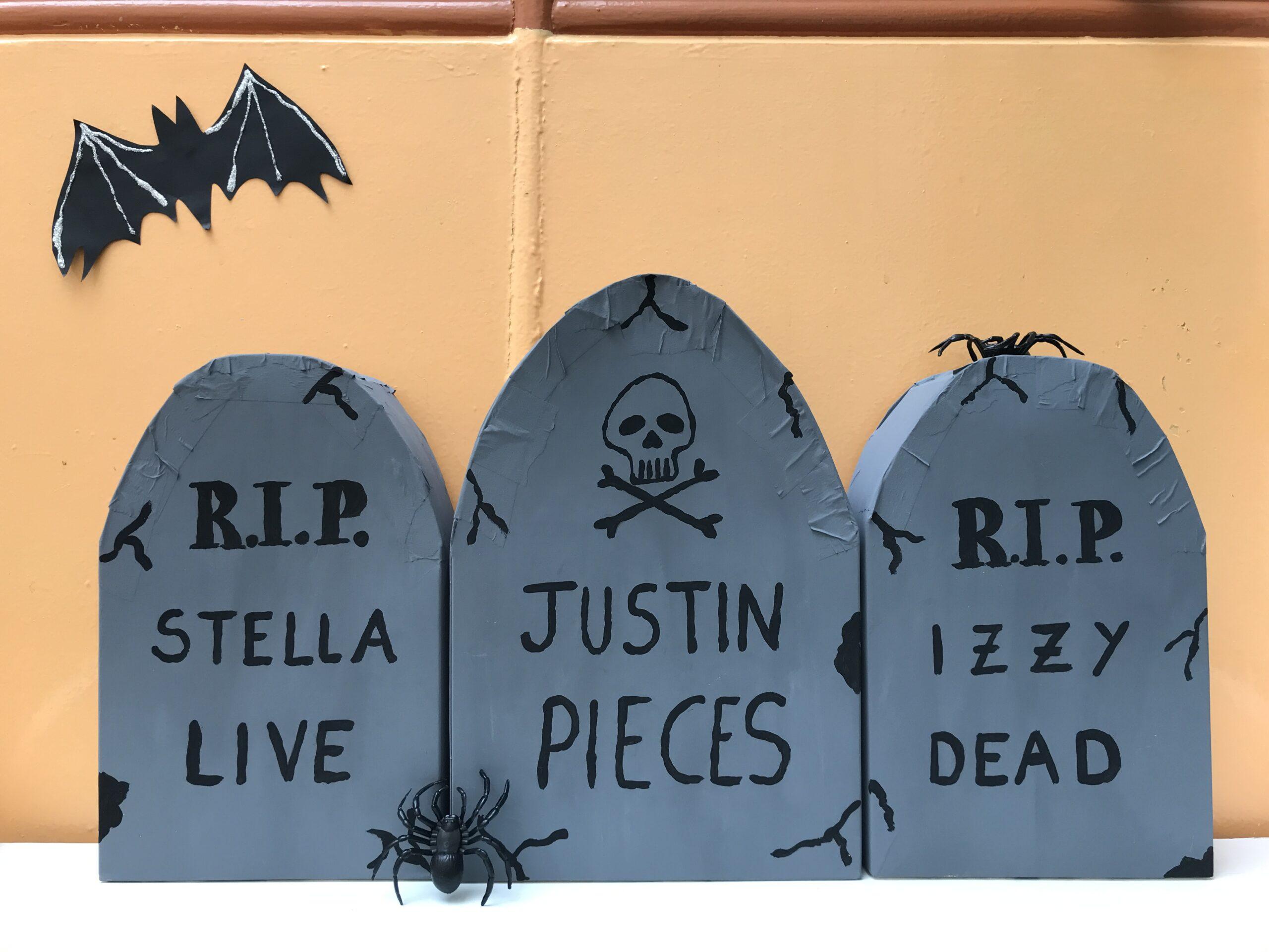 DIY Halloween Gravestones Decorations